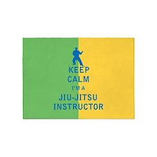Keep Calm I'm a Jiu-Jitsu Instructor 5'x7'Area Rug