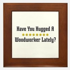 Hugged Woodworker Framed Tile