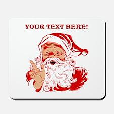Personalize Santa Claus Mousepad