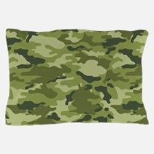 Green Camo Pattern Pillow Case