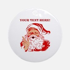 Personalize Santa Claus Ornament (Round)