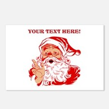 Personalize Santa Claus Postcards (Package of 8)