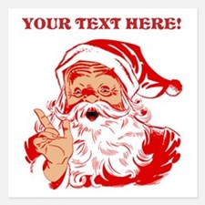 Personalize Santa Claus Invitations