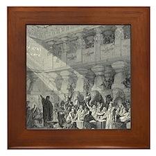 Belshazzar's Feast by Gustave Dore, 19 Framed Tile