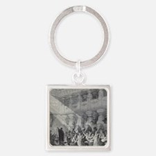 Belshazzar's Feast by Gustave Dore Square Keychain