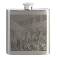 Belshazzar's Feast by Gustave Dore, 19th cen Flask