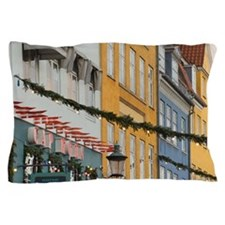Denmark, Copenhagen, Nyhavn at Christm Pillow Case