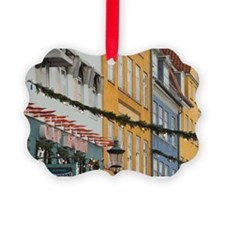 Denmark, Copenhagen, Nyhavn at Ch Ornament