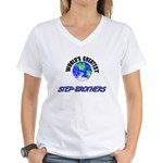 World's Greatest STEP-BROTHERS Women's V-Neck T-Sh