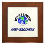 World's Greatest STEP-BROTHERS Framed Tile