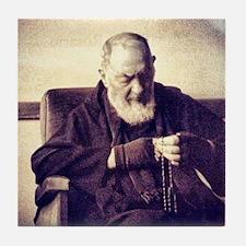 Padre Pio Tile Coaster