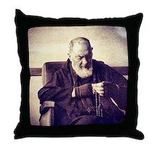 Padre Pio Throw Pillow