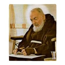 Padre Pio Throw Blanket