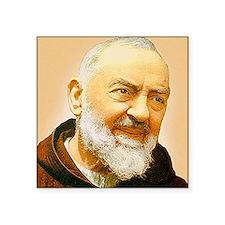 """Padre Pio Square Sticker 3"""" x 3"""""""