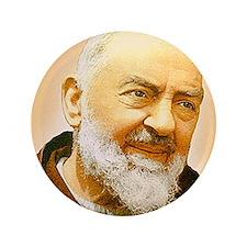 """Padre Pio 3.5"""" Button"""