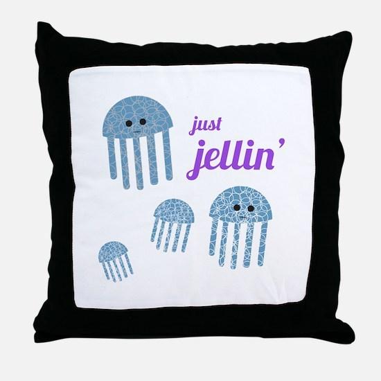 Just Jellin Throw Pillow