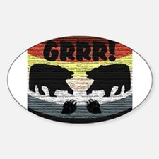 BEAR PRIDE BAND-GRRR! Oval Decal