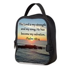PSALM 118:14 Neoprene Lunch Bag