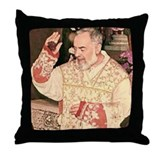 Padre pio Throw Pillows
