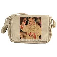 Padre Pio's Stimma Messenger Bag