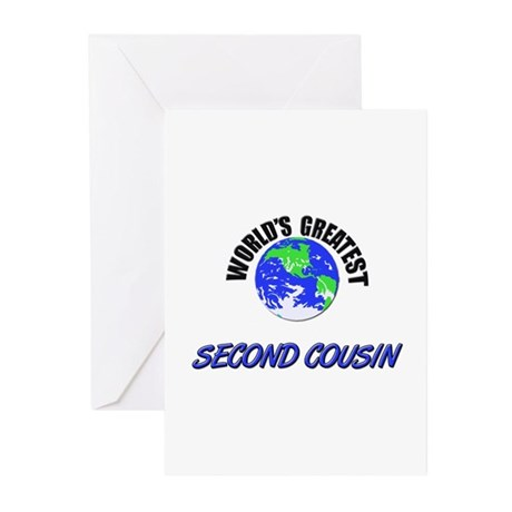 World's Greatest SECOND COUSIN Greeting Cards (Pac