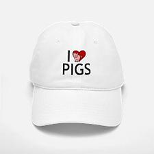 I Love Pigs Baseball Baseball Cap
