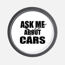 Ask me about Cars Wall Clock