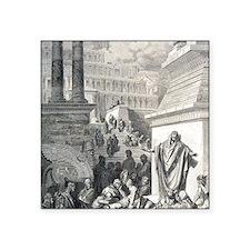 "Jonah preaching to Ninevite Square Sticker 3"" x 3"""