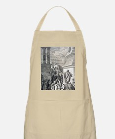Jonah preaching to Ninevites, by Gustave Dor Apron