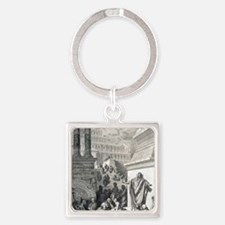 Jonah preaching to Ninevites, by G Square Keychain