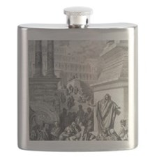 Jonah preaching to Ninevites, by Gustave Dor Flask