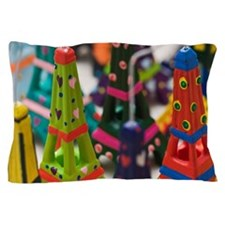 France, Paris, Miniature Eiffel Towers Pillow Case