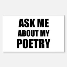 Ask me about my Poetry Decal