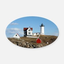 mainelighthouse2.png Oval Car Magnet