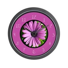 Unique Pink gerbera daisy Wall Clock