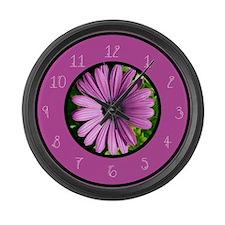 Funny Pink gerbera daisy Large Wall Clock