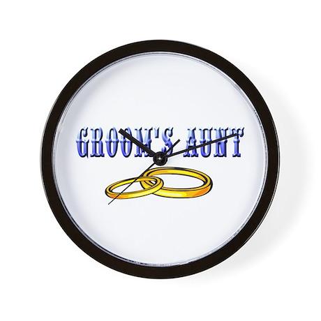 Groom's Aunt (rings) Wall Clock