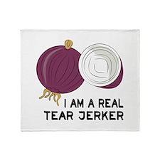Tear Jerker Onion Throw Blanket
