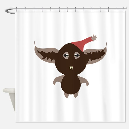 Monster Bat Shower Curtain
