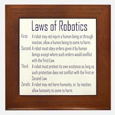 Asimov's Robot Series Laws of Robotics Framed Tile