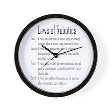 Asimov's Robot Series Laws of Robotics Wall Clock