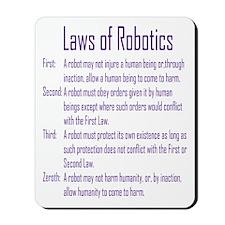 Asimov's Robot Series Laws of Robotics Mousepad
