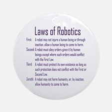 Asimov's Robot Series Laws of Robotics Ornament (R
