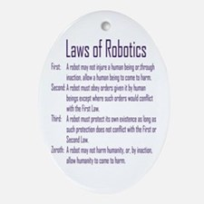 Asimov's Robot Series Laws of Robotics Ornament (O
