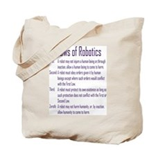 Asimov's Robot Series Laws of Robotics Tote Bag