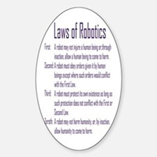 Asimov's Robot Series Laws of Robotics Decal