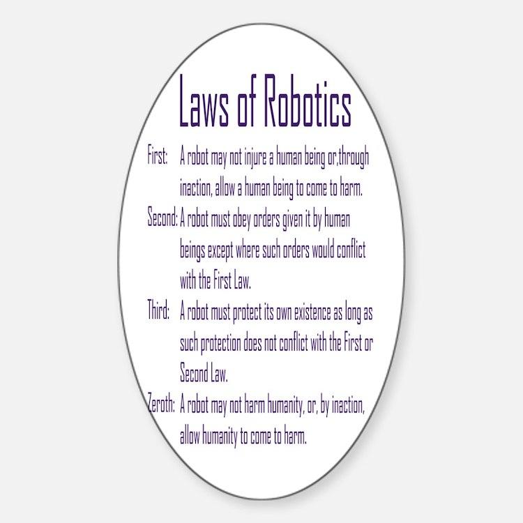 Asimov's Robot Series Laws of Robotics Decal