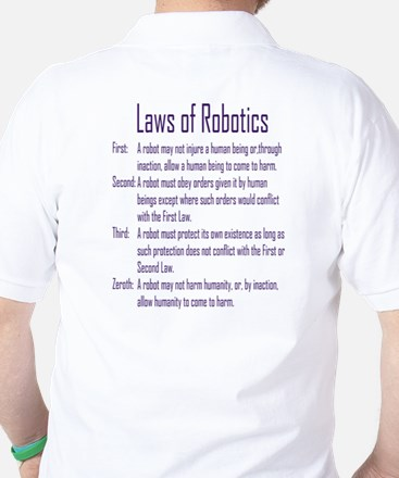Asimov's Robot Series Laws of Robotics Golf Shirt