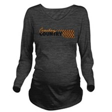 Cute Cowboy Long Sleeve Maternity T-Shirt
