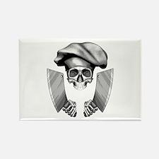 Chef skull: v1 Rectangle Magnet (100 pack)